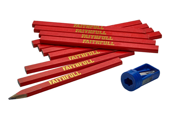 Faithful 12 Medium Carpenter's Pencils - Nioclas O Conchubhair