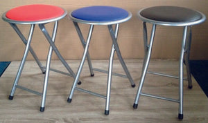Folding Stool Mixed Box Of 12 Black/Red/Blue - Nioclas O Conchubhair