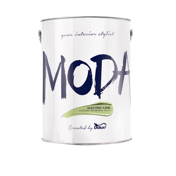 Dulux Moda Electric Lime  5L - Nioclas O Conchubhair