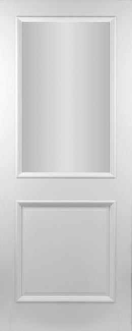 Seadec White Primed Albany  2Panel Frosted Door - Nioclas O Conchubhair