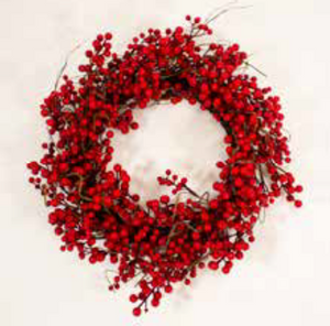 60cm Red Berry Christmas Wreath | 15642