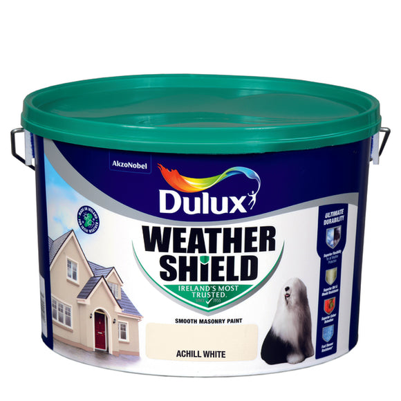 Dulux Weathershield Achill White 10L - Nioclas O Conchubhair