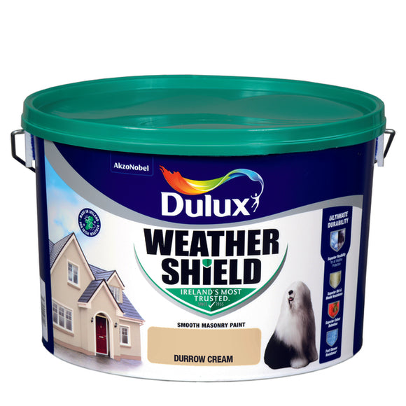 Dulux Weathershield Durrow Cream 10L - Nioclas O Conchubhair