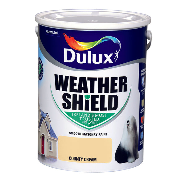 Dulux Weathershield County Cream 5L - Nioclas O Conchubhair