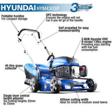 Hyundai 4-stroke Petrol Lawn Mower Self Propelled 139 Cc | HYM430SP - Nioclas O Conchubhair