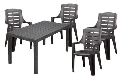 Sumatra Table and Jakarta Chair 5 Piece Set - Nioclas O Conchubhair