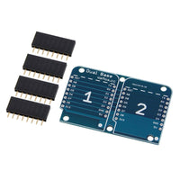 Dual Socket Shield p/Wemos D1 Mini
