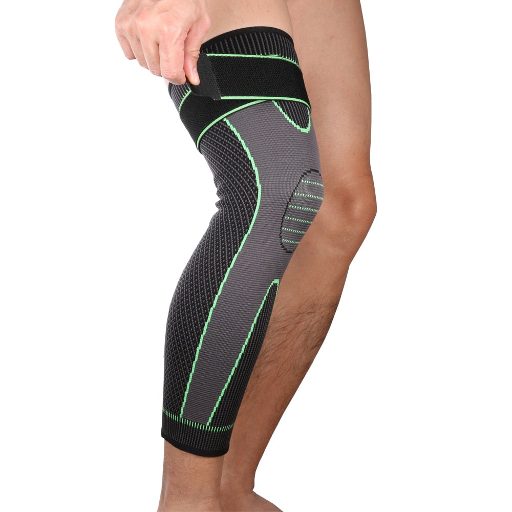 Long Compression Leg Sleeve | Knee Stabilizer | Calf & Knee Support