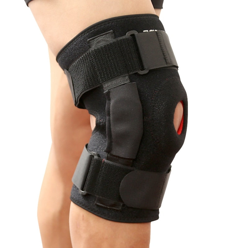 Knee Brace with Hinge Support & Adjustable Straps