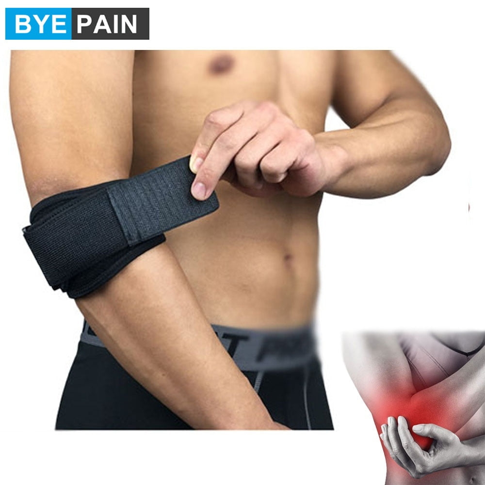 Elbow Brace for Tendonitis | Compression Pad, Tennis & Golfer's Band | Relieves Forearm Pain