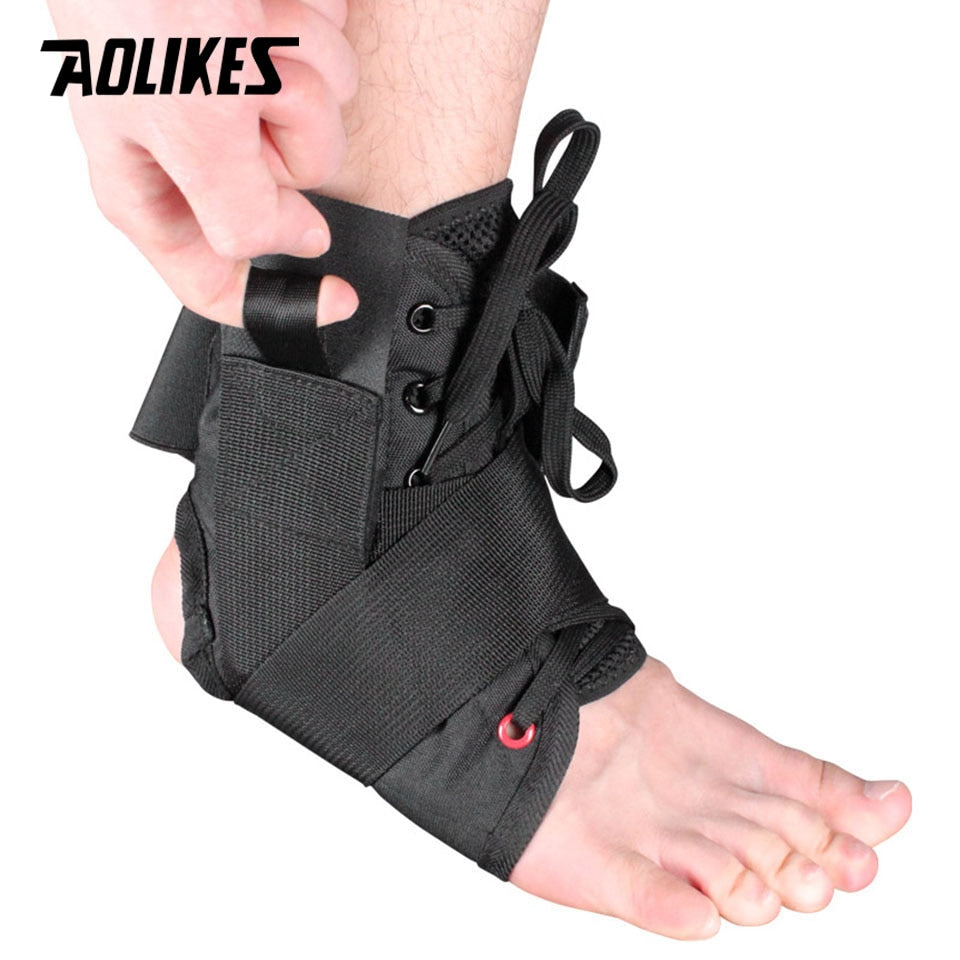 Adjustable Lace Up Ankle Brace | Rolled Pain, Twisted Sprain, Instability, Lace Support