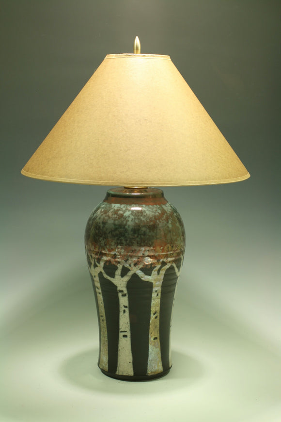 Small lamp with paper shade