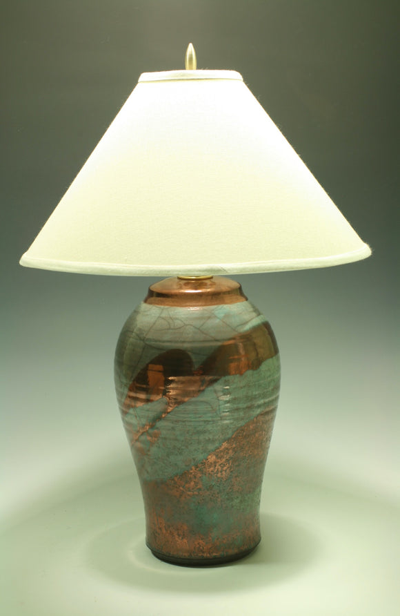 small lamp with off white shade