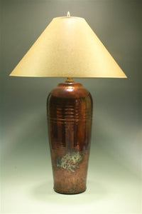 Raku Lamp (12T) - Copper Fire