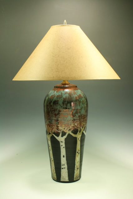 Raku Table Lamp - Large Aspens