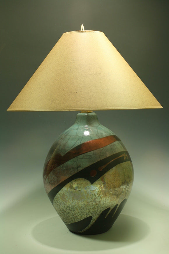 Raku Table Lamp 24