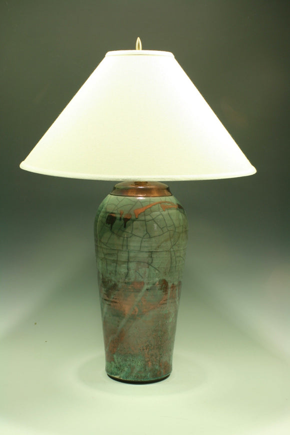 large lamp with off white shade