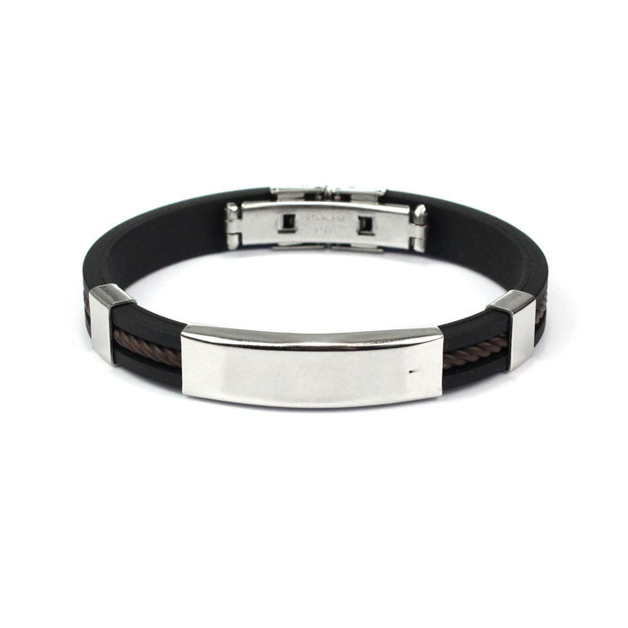 Fashion Mens Jewelry Bracelet Stainless Steel Cuff Bangle Han