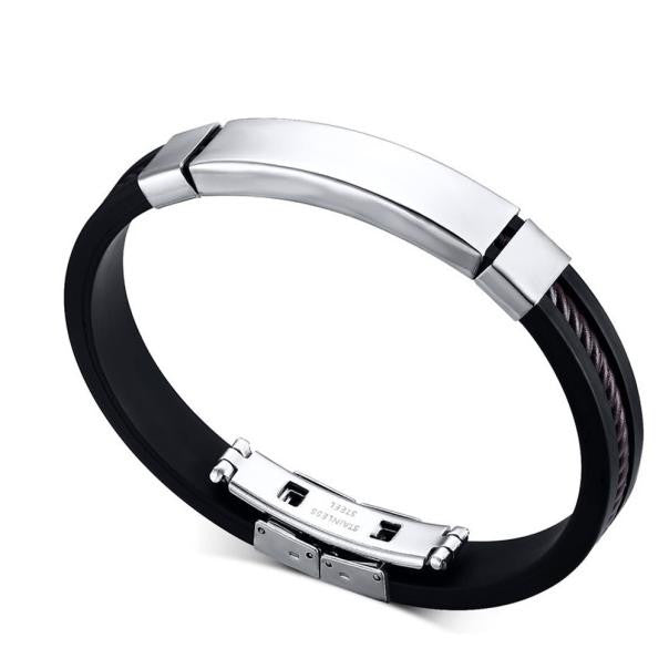 New Unisex Men's Genuine Braided Leather Stainless Steel Magnetic Clasp Bracelet
