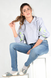 (P/B) INTERNATIONAL BRAND WOMEN CROP HOODIE (4561808490628)