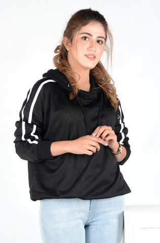(M/D) INTERNATIONAL BRAND WOMEN CROP HOODIE (4561802756228)