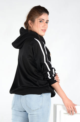 (M/D) INTERNATIONAL BRAND WOMEN CROP HOODIE