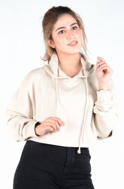 (M/D)INTERNATIONAL BRAND WOMEN CROP HOODIE (4561823793284)