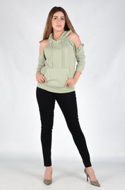 (M/D) INTERNATIONAL BRAND WOMEN CROP HOODIE (4561795514500)