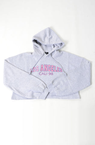 (M/G) INTERNATIONAL BRAND WOMEN CROP HOODIE (4473947619460)