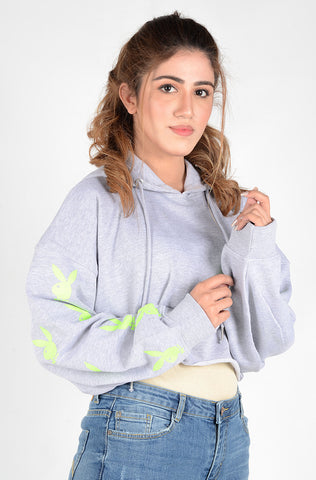 (P/B) INTERNATIONAL BRAND WOMEN CROP HOODIE