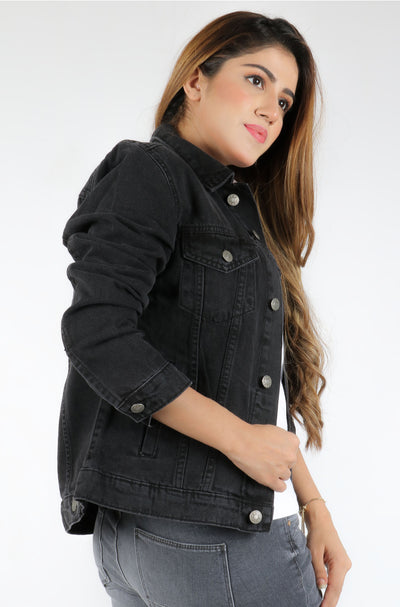 (C/X) INTERNATIONAL BRAND WOMEN'S DENIM JACKET (4375760404612)