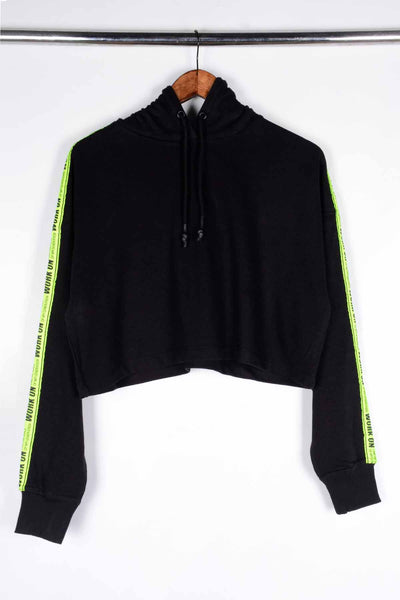 Pull and Bear Women's Cropped Hoodie (6003019907226)