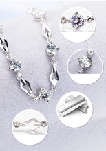 Load image into Gallery viewer, Infinity Bracelet (Sterling Silver & Crystal Stones)