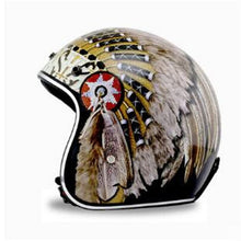 Load image into Gallery viewer, Open Face Indian Chief Helmet