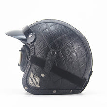 Load image into Gallery viewer, Leather Motorcycle Helmet