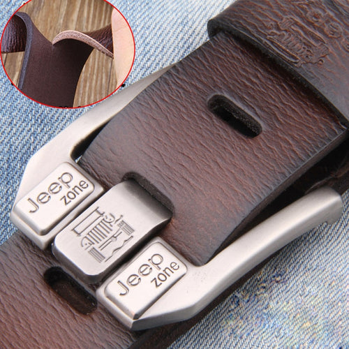 Men's Jeep Leather Belt