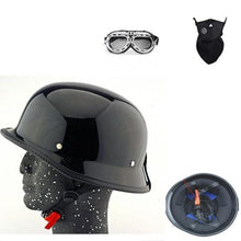 Load image into Gallery viewer, Open Face Vintage Motorcycle Helmet