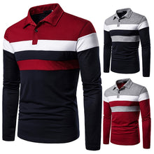 Load image into Gallery viewer, Men's Long Sleeve Polo Shirt