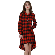 Load image into Gallery viewer, Long Sleeve Plaid Dress