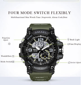 S Shock Men's Sport Wristwatch Dual Time