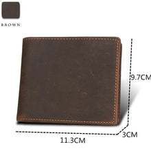 Load image into Gallery viewer, Men's Genuine Leather Wallet