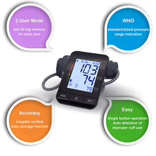 Load image into Gallery viewer, Auto Digital Upper Arm Blood Pressure Monitor