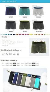 7pcs/lot Boxers Men's Sexy Underwear