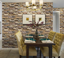 Load image into Gallery viewer, Stone Brick Wall Self Adhesive Wallpaper
