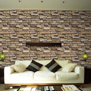 Stone Brick Wall Self Adhesive Wallpaper