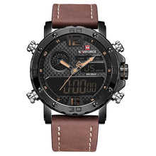 Load image into Gallery viewer, Men's Leather Sports Watch