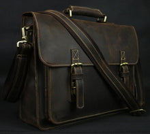 Load image into Gallery viewer, Men's Leather Briefcase Laptop Bag