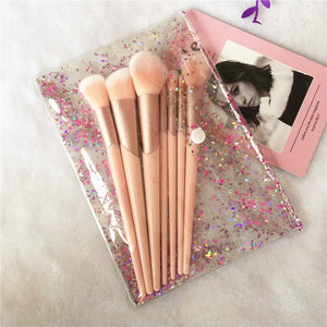 7pcs Rose Gold Handle Makeup Brushes