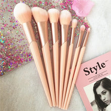 Load image into Gallery viewer, 7pcs Rose Gold Handle Makeup Brushes
