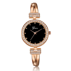 4 PCS Set Rose Gold Women's Watch